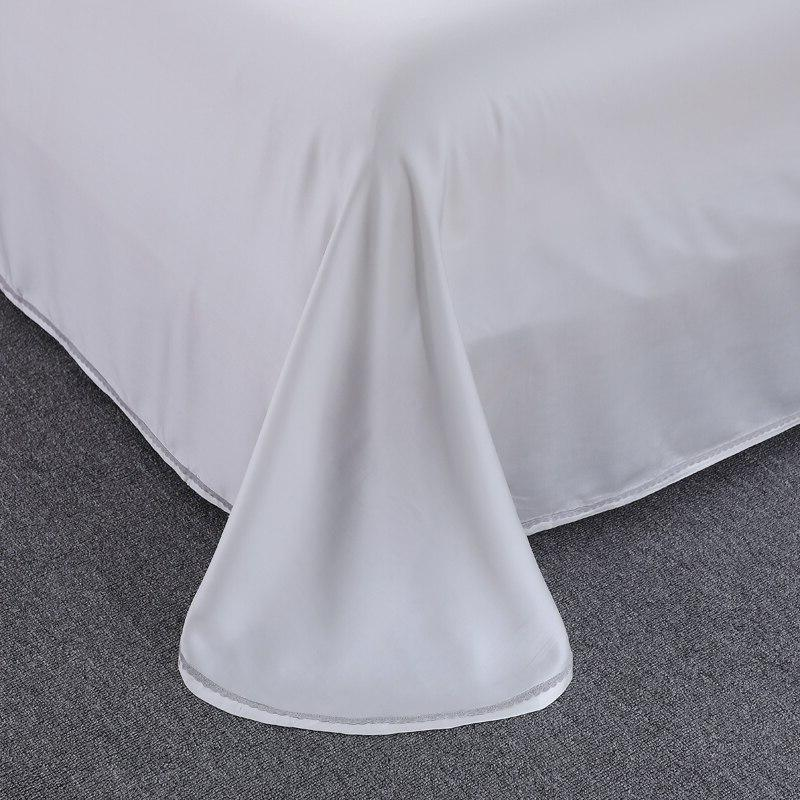 <font><b>800</b></font> White Lace Design Bedding Sets Queen Size Wedding Princess 100% Tencel Cover