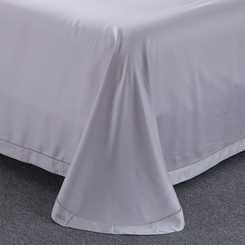 Grey 100% Tencel Lace Sets Organic Bedclothes Queen <font><b>King</b></font> <font><b>800</b></font> <font><b>Thread</b></font> <font><b>Count</b></font>