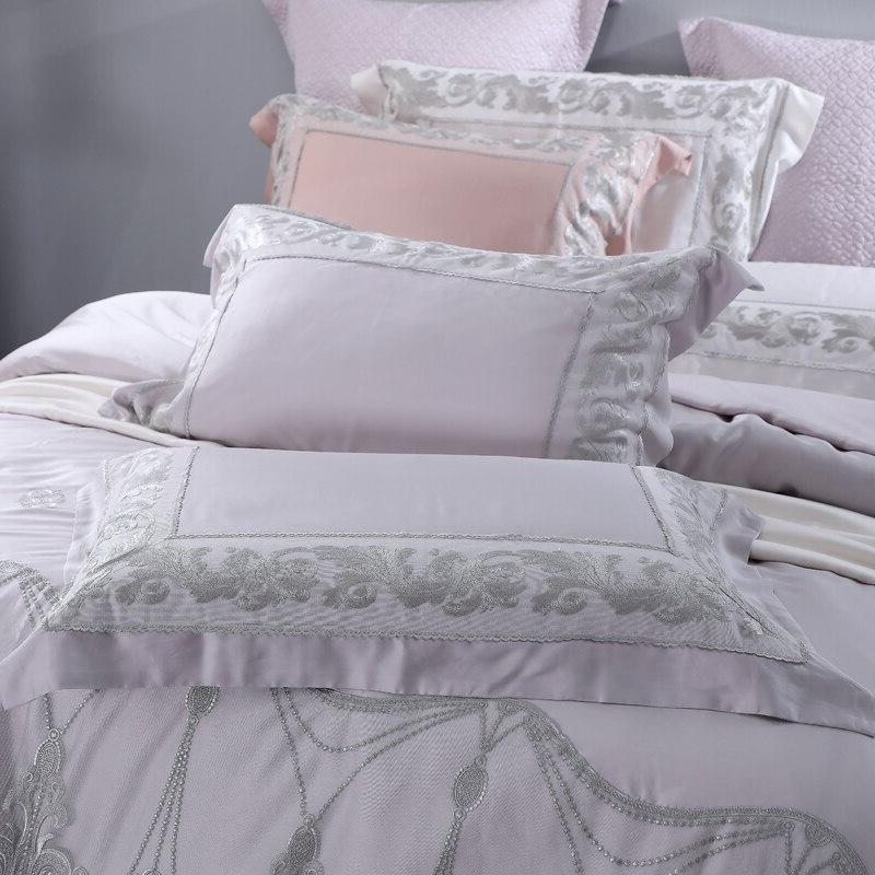 Lace 4 Bedding Sets <font><b>800</b></font> <font><b>Count</b></font> Wedding Bed Set For Queen <font><b>King</b></font>