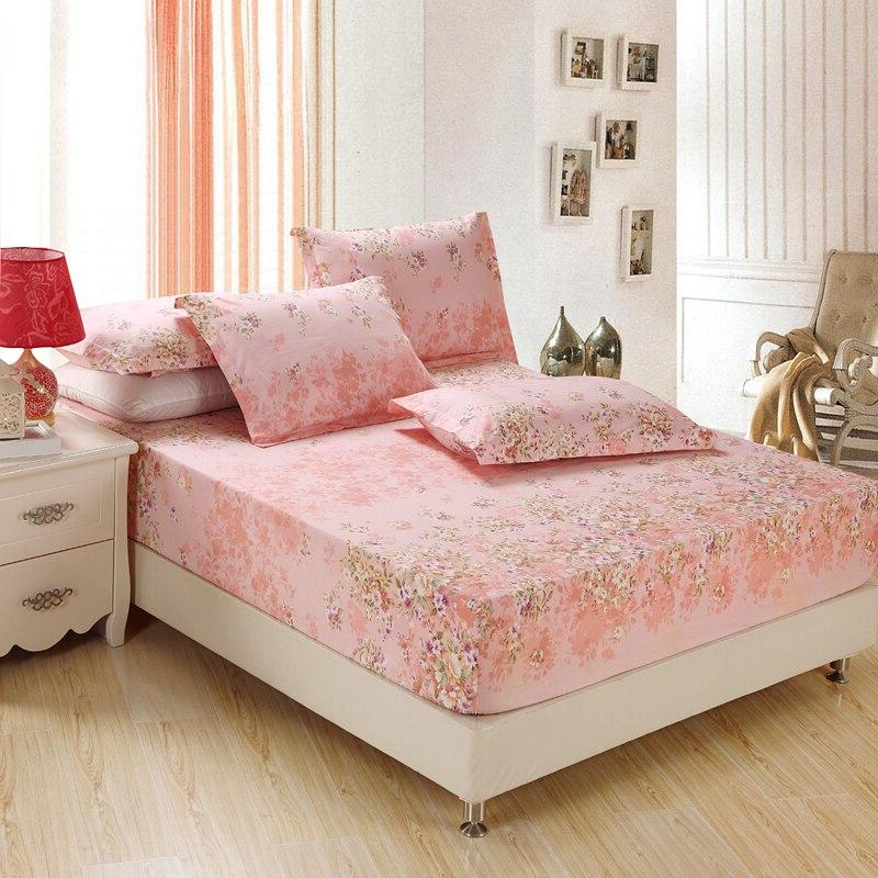 Home textile 100% cotton <font><b>sheets</b></font> cover bed <font><b>sheet</b></font> <font><b>solid</b></font> color fitted bedspread full <font><b>king</b></font> size