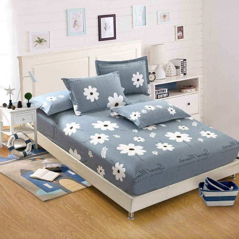 Home textile bed <font><b>sheet</b></font> <font><b>solid</b></font> fitted bedspread full <font><b>king</b></font> size