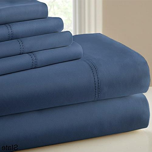 CHT Hotel Collection Thread Set Double Hem Finish, King,