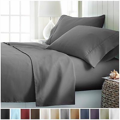 hotel luxury 4 piece deep pocket bed