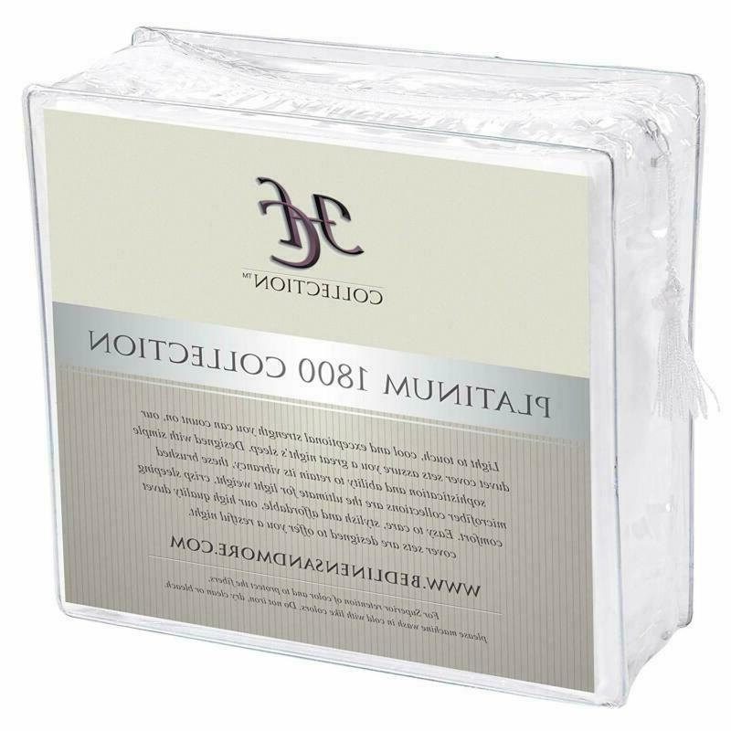 Hc Sheets Set, Hotel Luxury 1800 Series Platinum Beddi