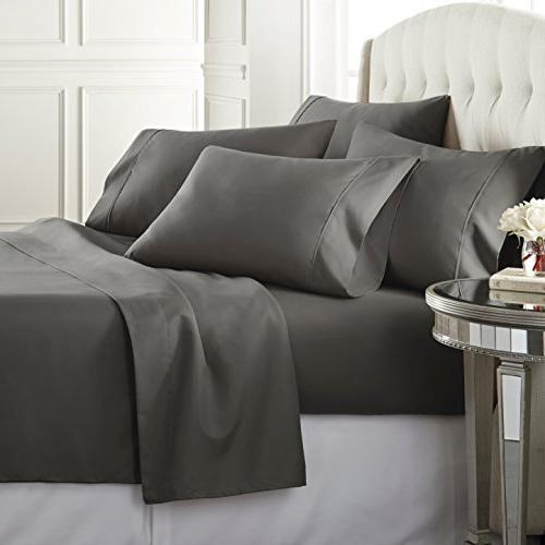 Soft 1800 Series Bed Sheets Set, Pockets, Hypoallergenic, Fade Resistant Bedding Set