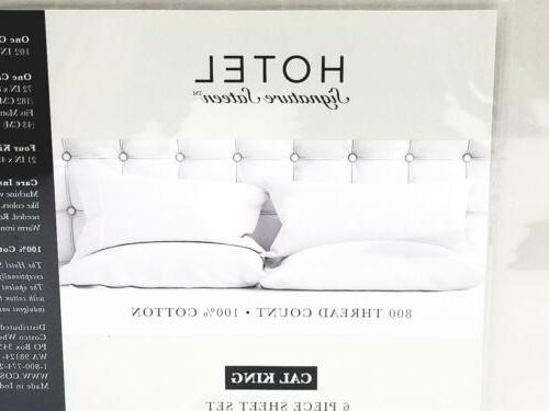 Hotel Sateen 800 Thread Cotton 6 Set Cal King