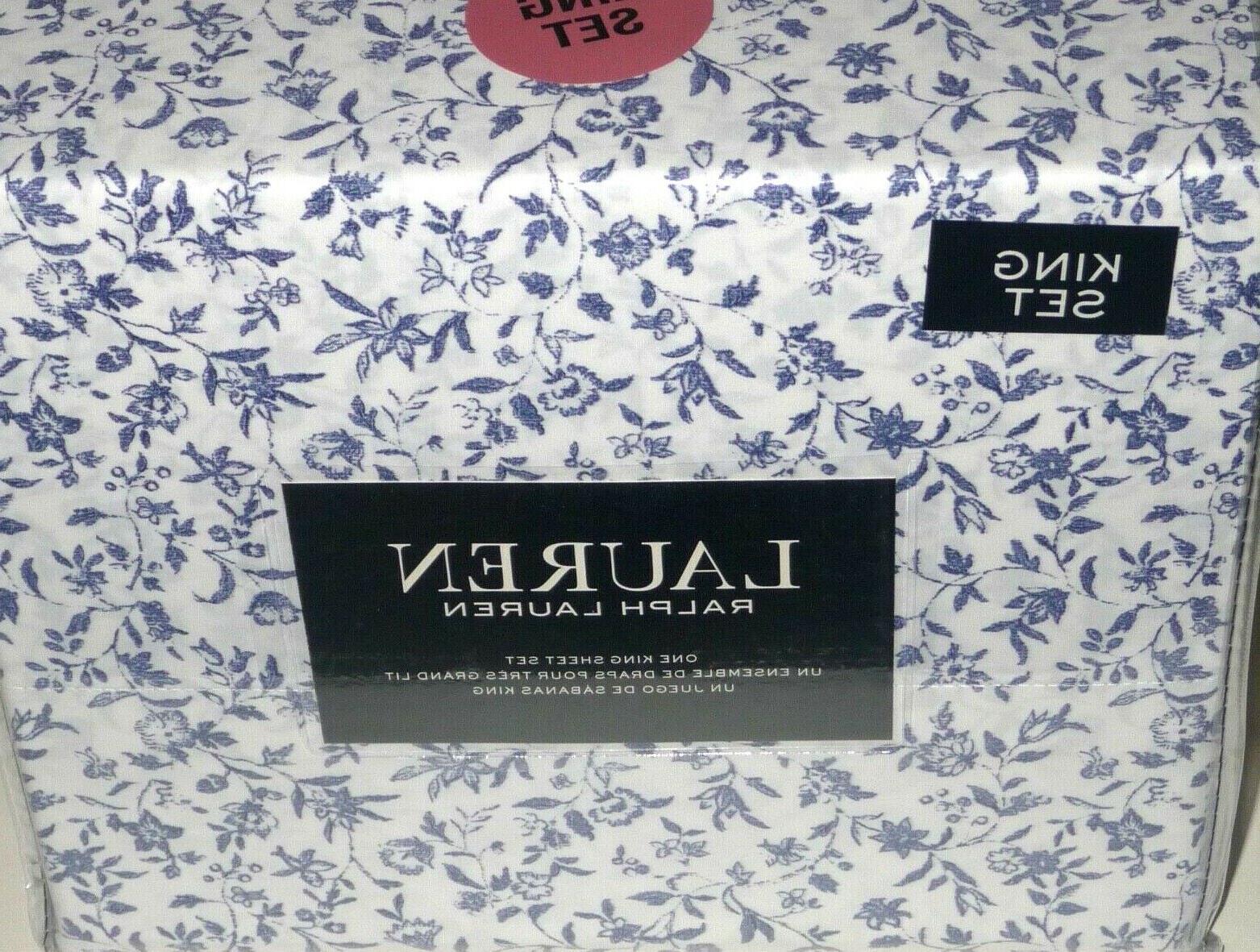 Ralph Lauren SHEET SET BLUE FLORAL NEW