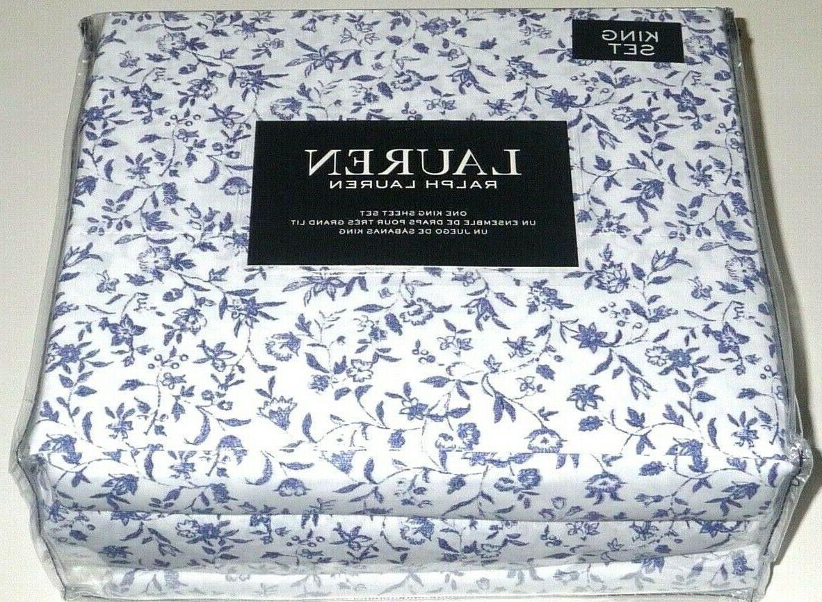 Ralph Lauren SHEET PORCELAIN BLUE FLORAL - NEW