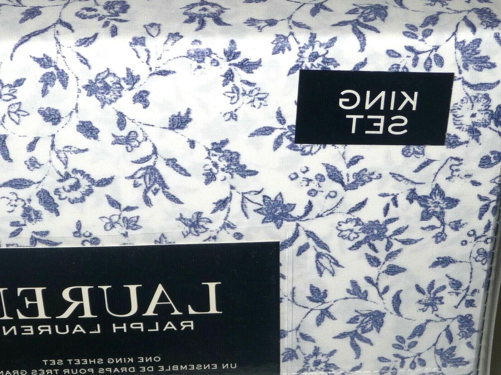 Ralph Lauren SHEET BLUE FLORAL NEW