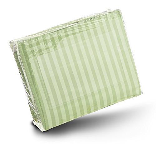 Crystal 4-Piece Sheet Stripe Sateen - Thread Count