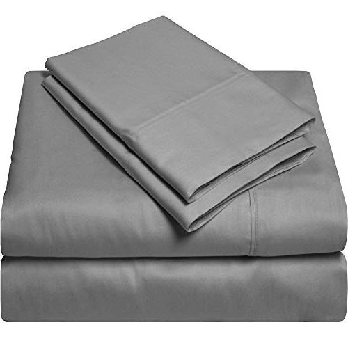 King Sheets Luxury Soft Thread Sheet Set for Mattress Gray