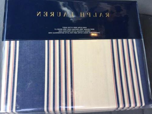 Ralph Lauren KING Extra Deep Fitted Sheet Saranac Peak Corbe