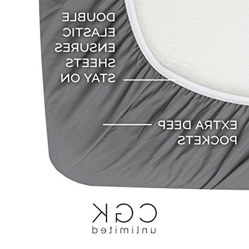 King Sheet - 6 - Sheets - Extra - Easy Fit - & Sheets - Wrinkle Free - - Grey Bed Sheets - Sheets PC