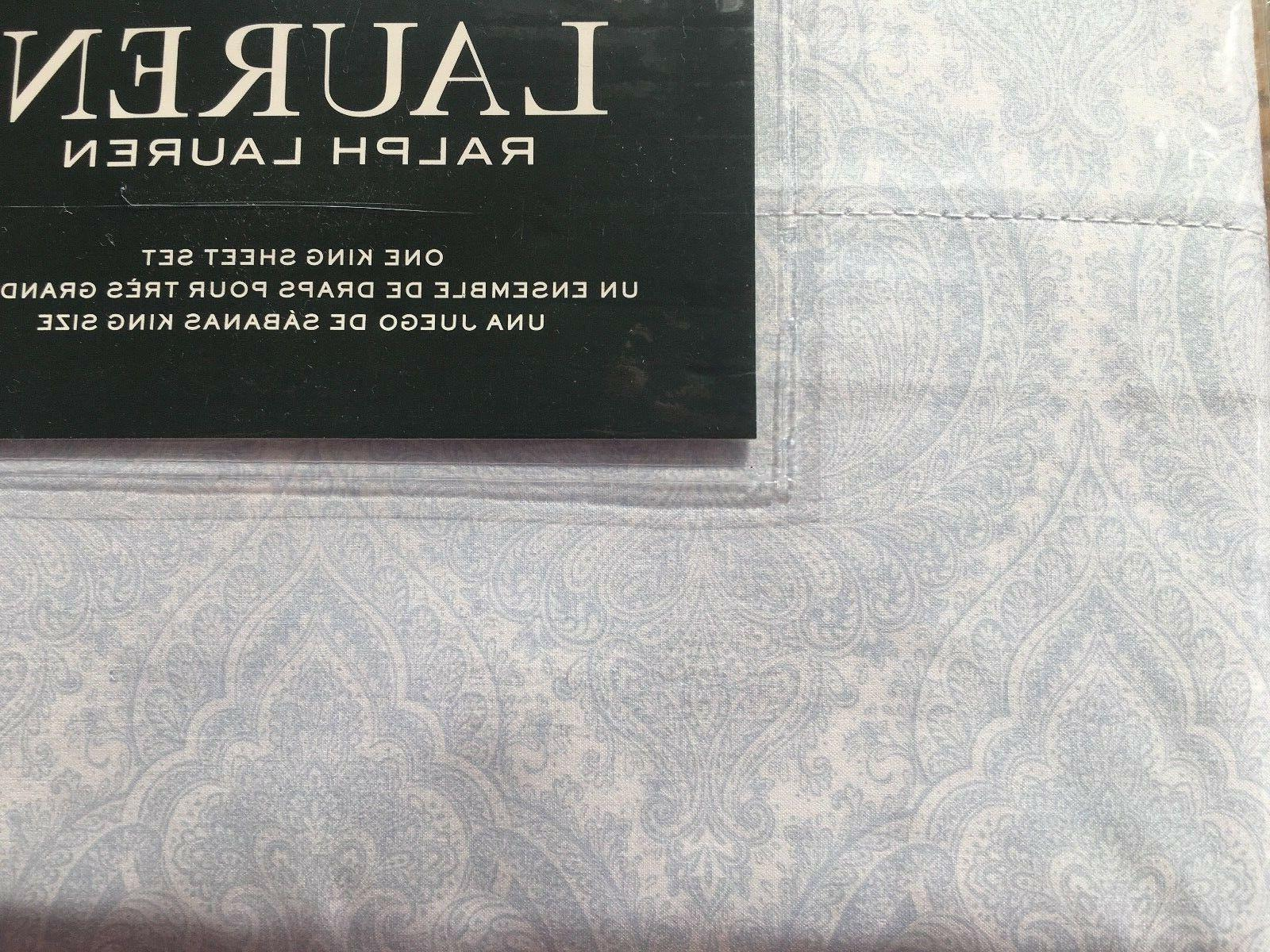 king sheet set nip blue paisley floral