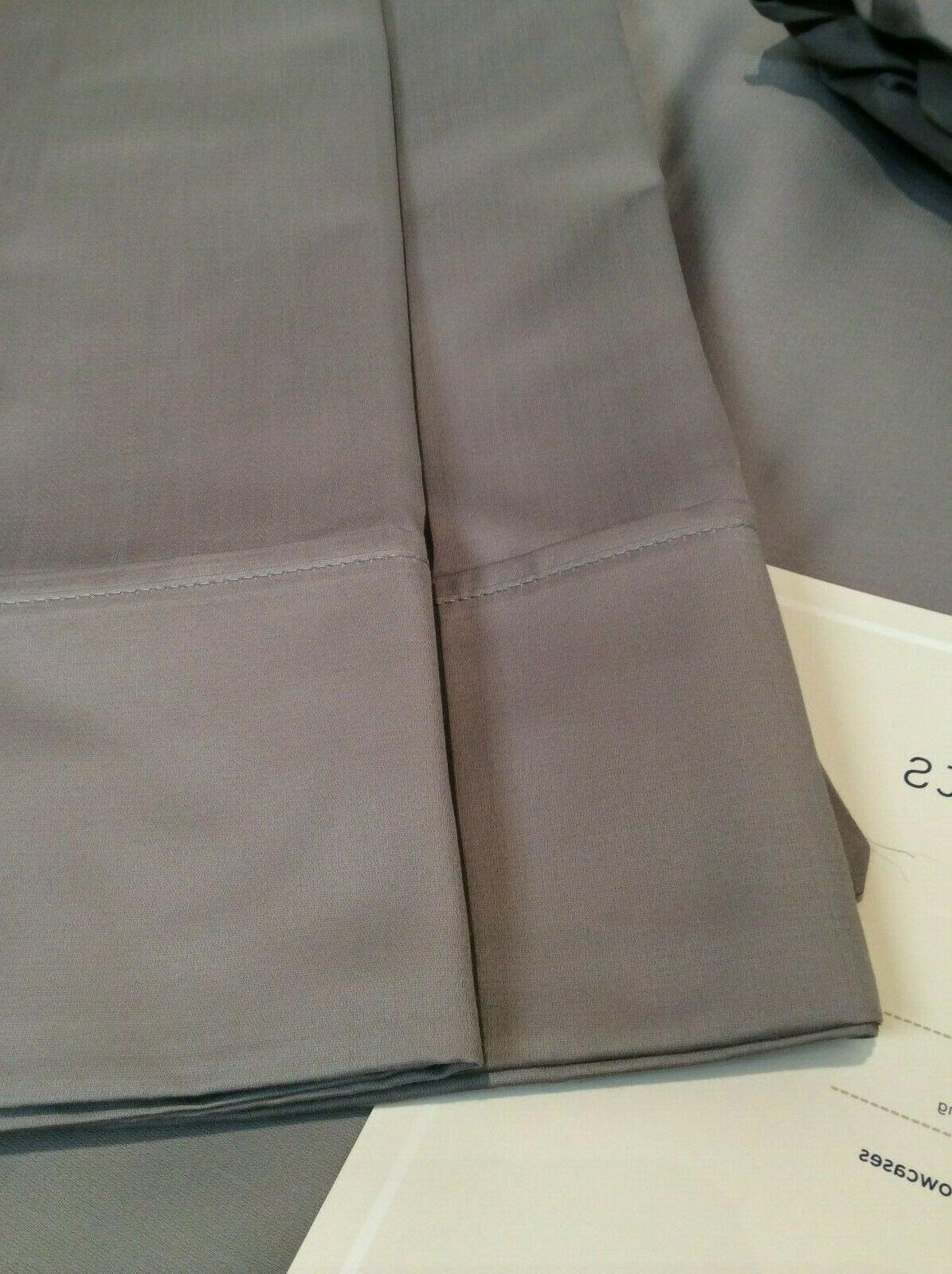 King 700TC Organic Supima Cotton Gray
