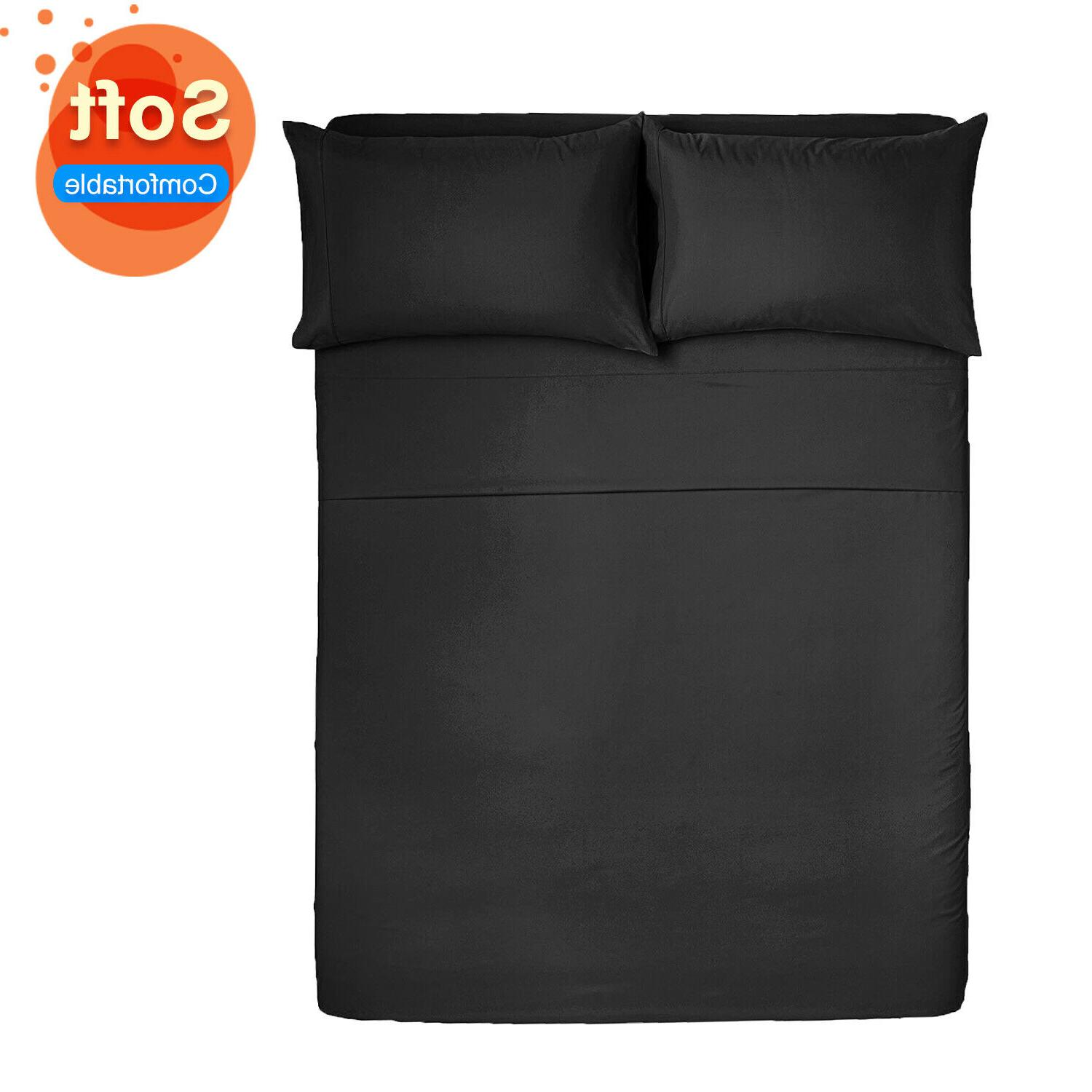 king size bed sheet set brushed microfiber