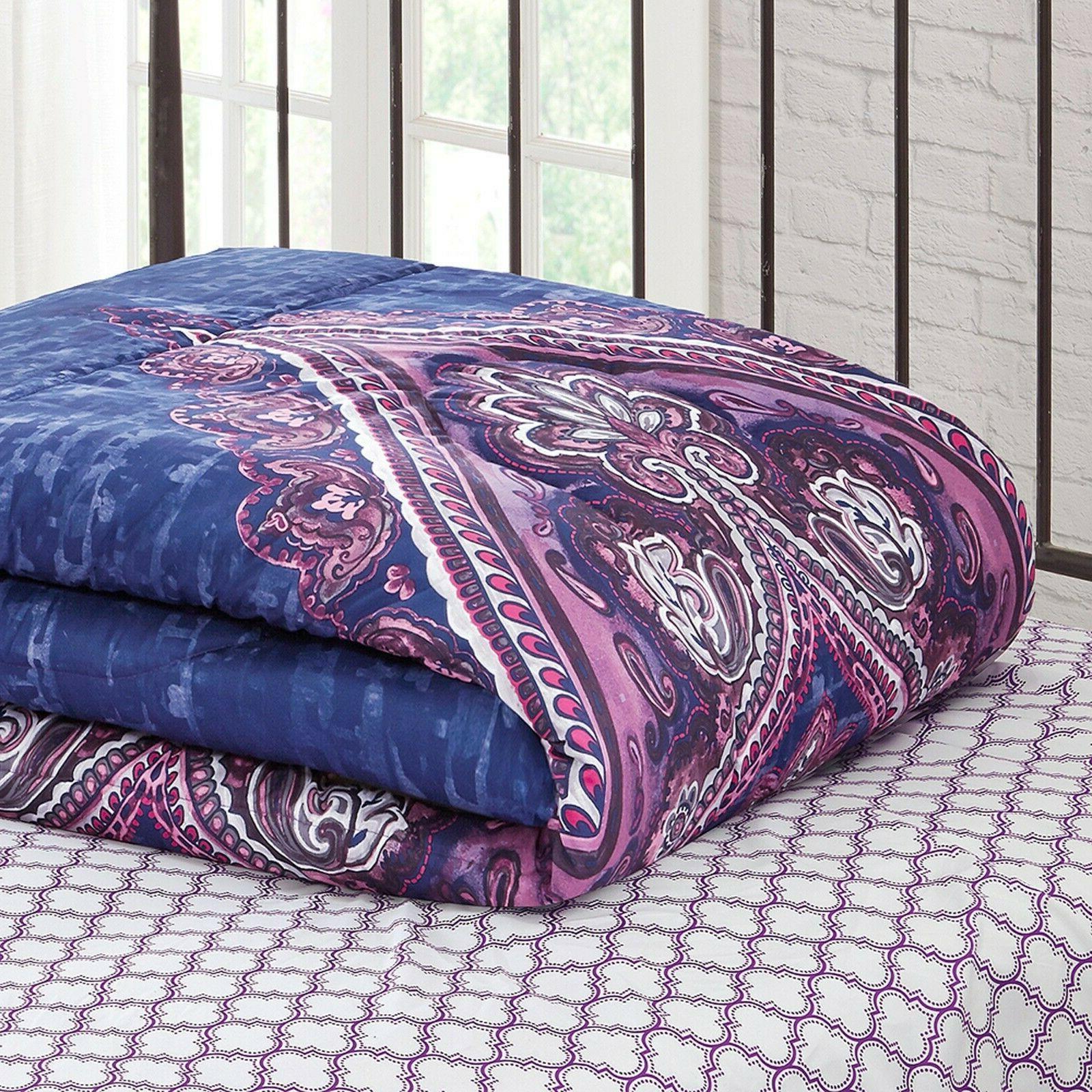 King Girls Set Comforter 8 Piece Purple