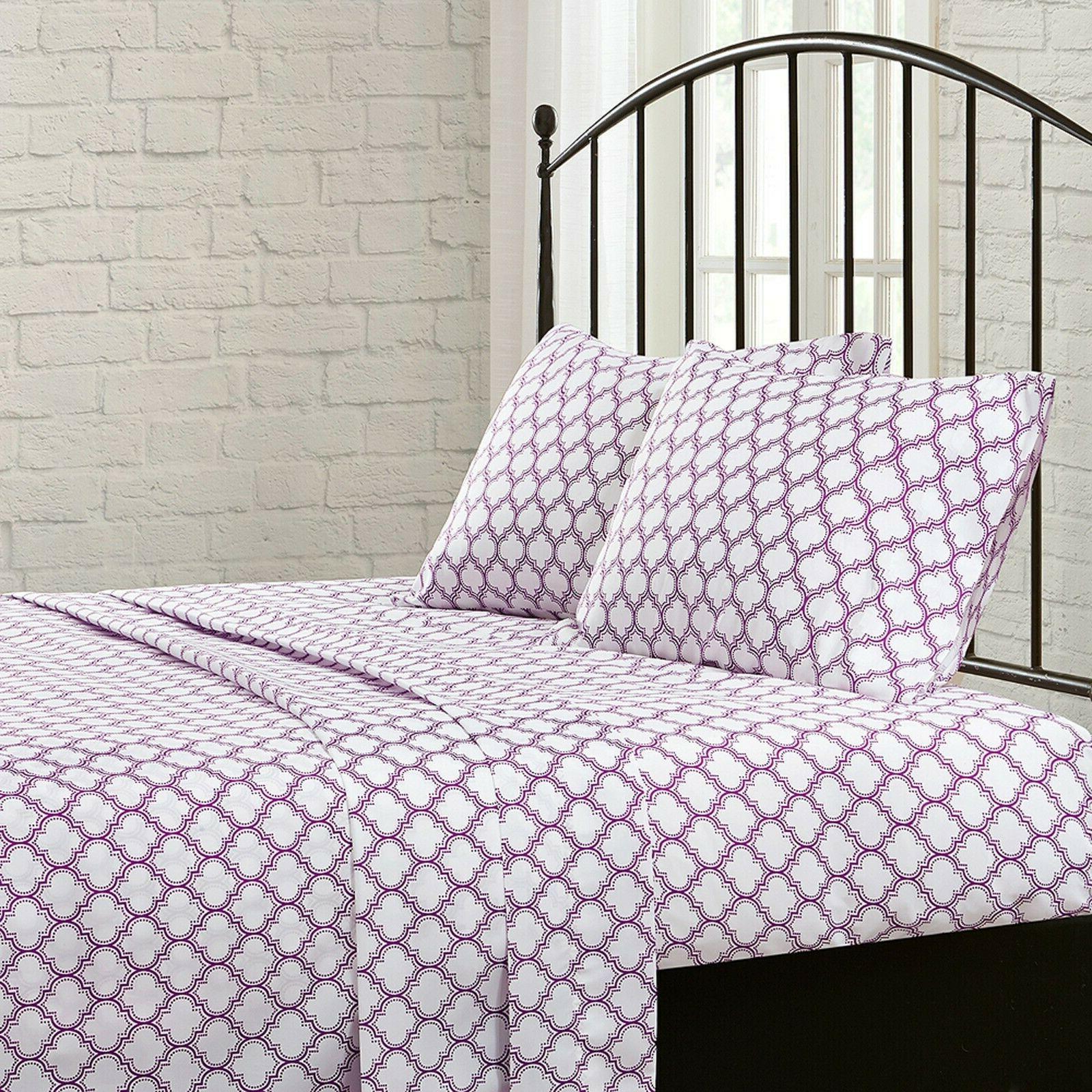 King Size Girls Set Comforter Sheets 8 Piece Comfort Purple