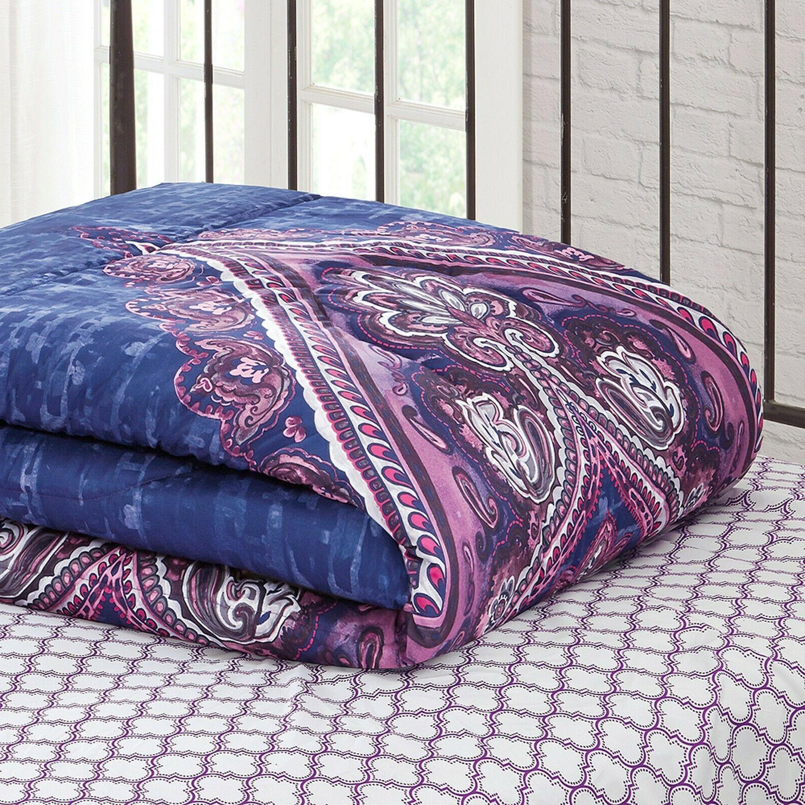 King Size Set Sham 8 Comfort Purple
