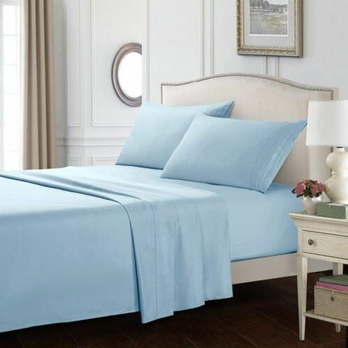 king size soft sheets comfort count 4