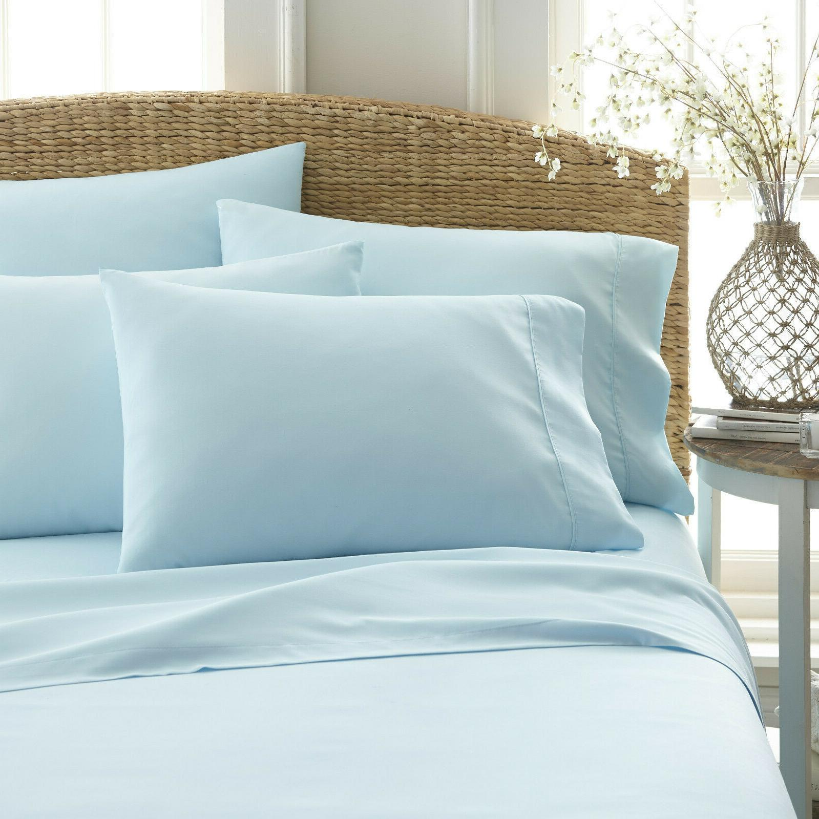 KING SIZE DEEP PIECE SUPER EXTRA BED SET 4 PILLOW CASES