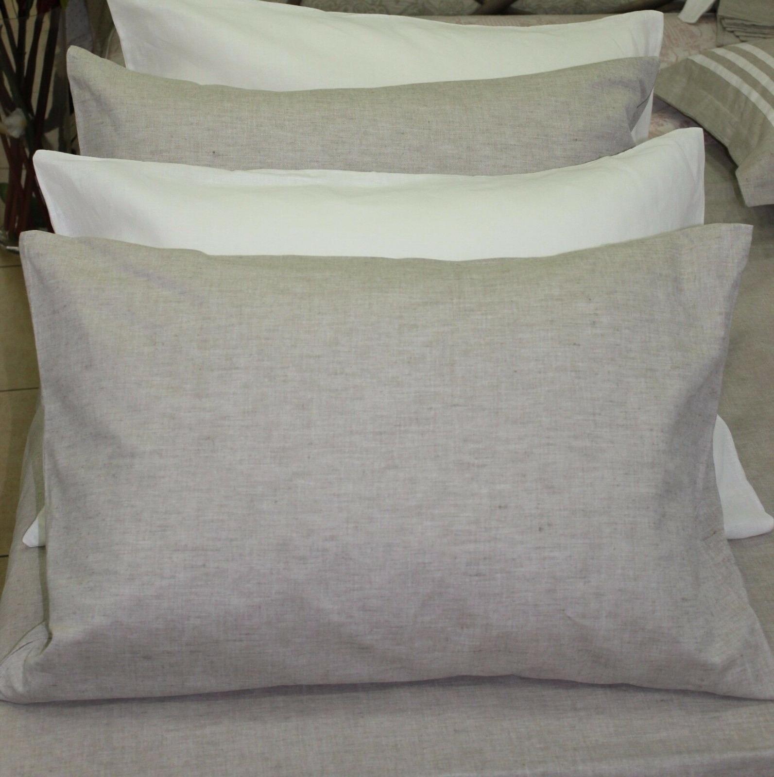 linen pillowcase envelope closure king queen standard