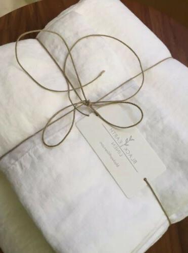 Linen King - White Black Linen French