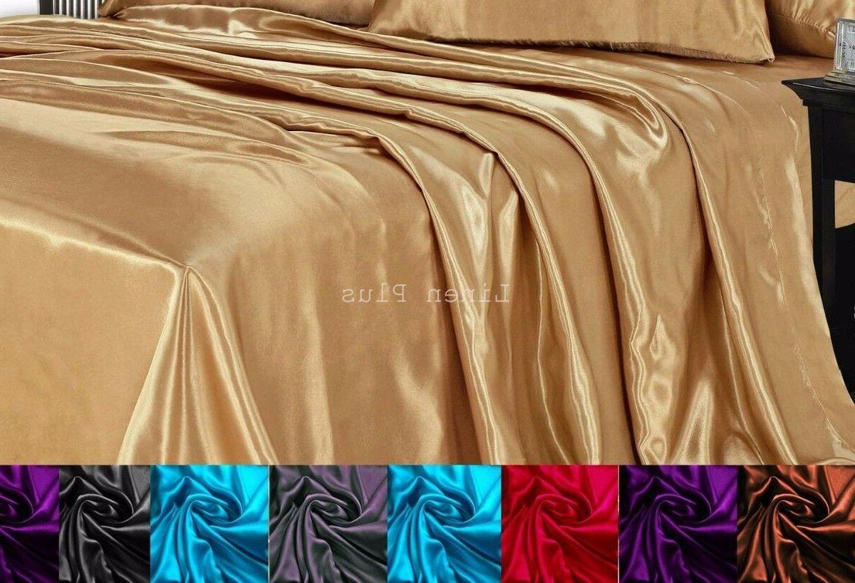 linenplus collection one satin flat bed sheet