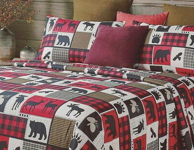 LODGE 4pc SHEETS PAW BUFFALO