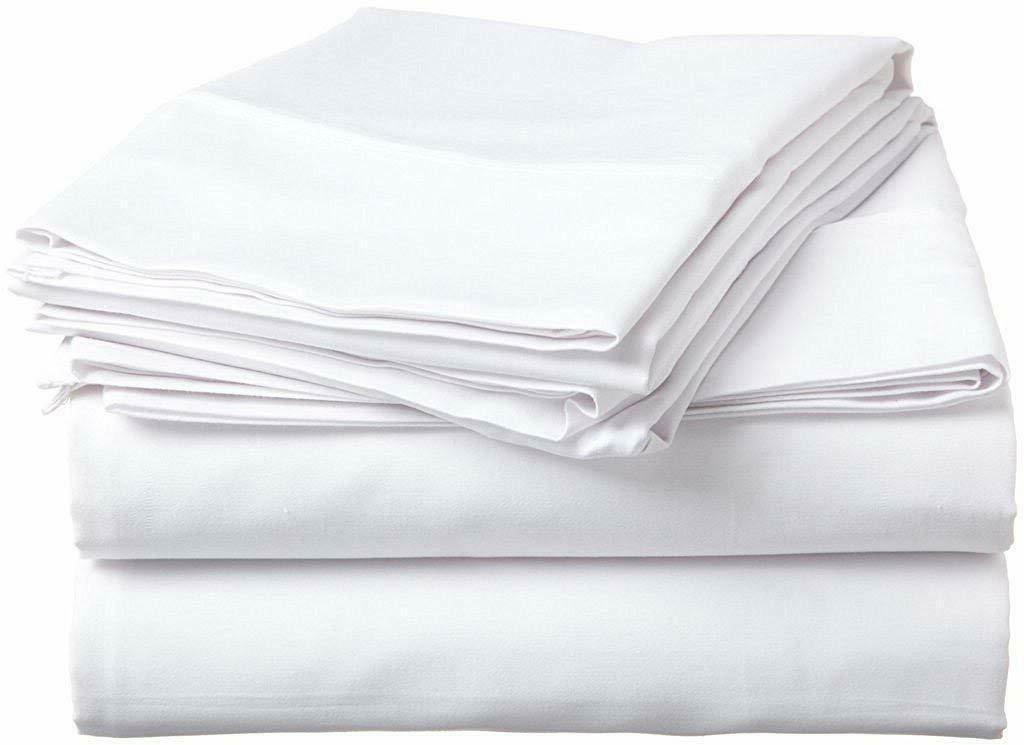100% Percale Cotton 400 TC 4 Piece Sheet Set Size Cal king W