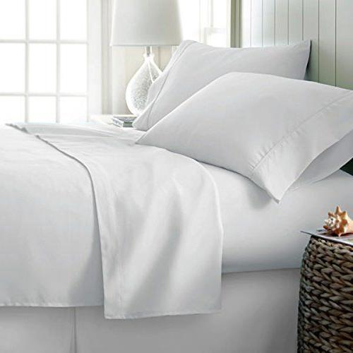 luxurious bedding set white solid 100 percent