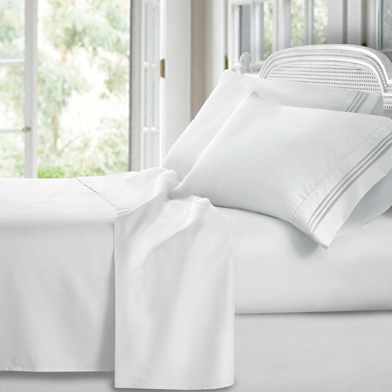luxury 1800 series bamboo linen bed flat