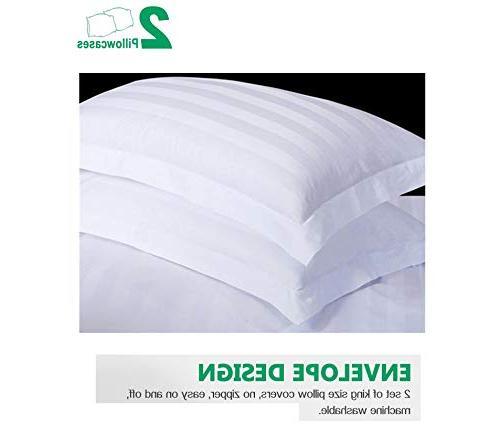 CE 100% Cotton Sheets Piece Extra Deep Pocket Bed Sheet Stripe