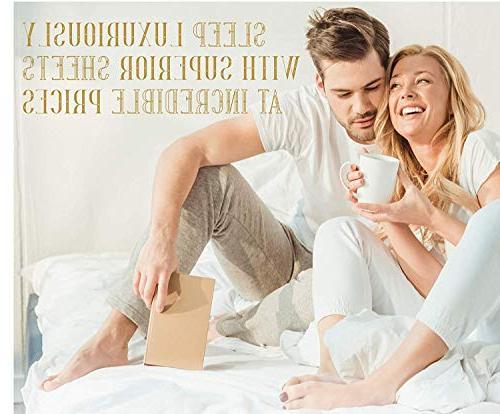 True Luxury 4-Pc King Sheet Yarns, Sateen Weave, Mattress