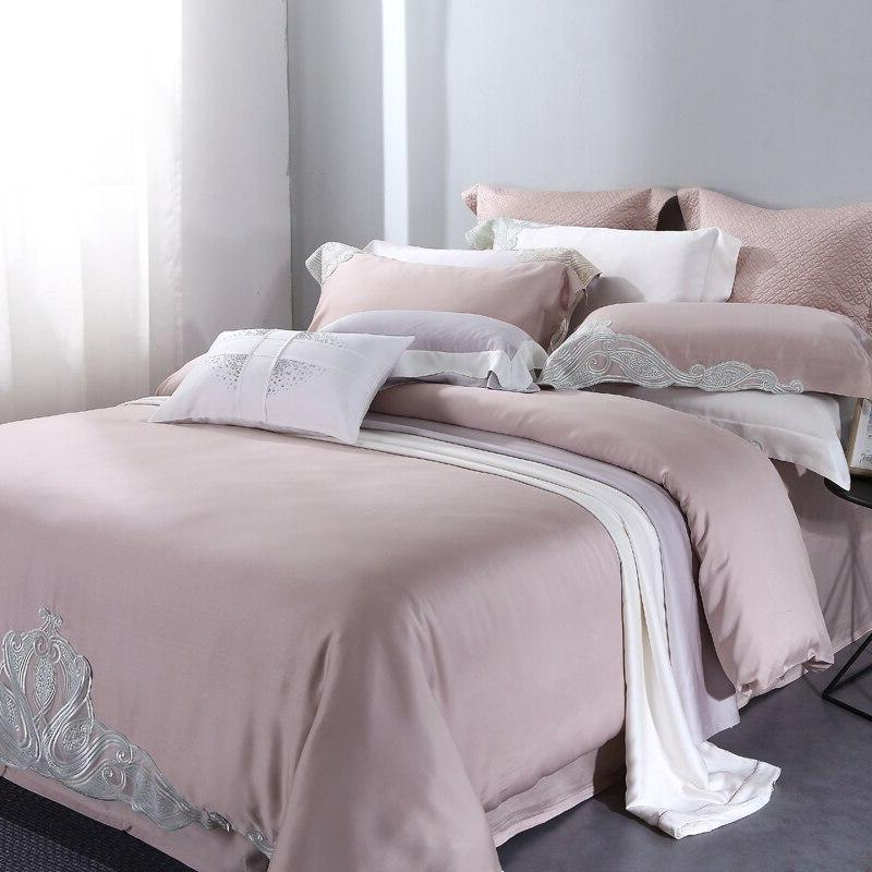 Luxury <font><b>Thread</b></font> <font><b>Count</b></font> Bedding Sets Queen <font><b>King</b></font> Size 4 Piece Quilt Cover Set