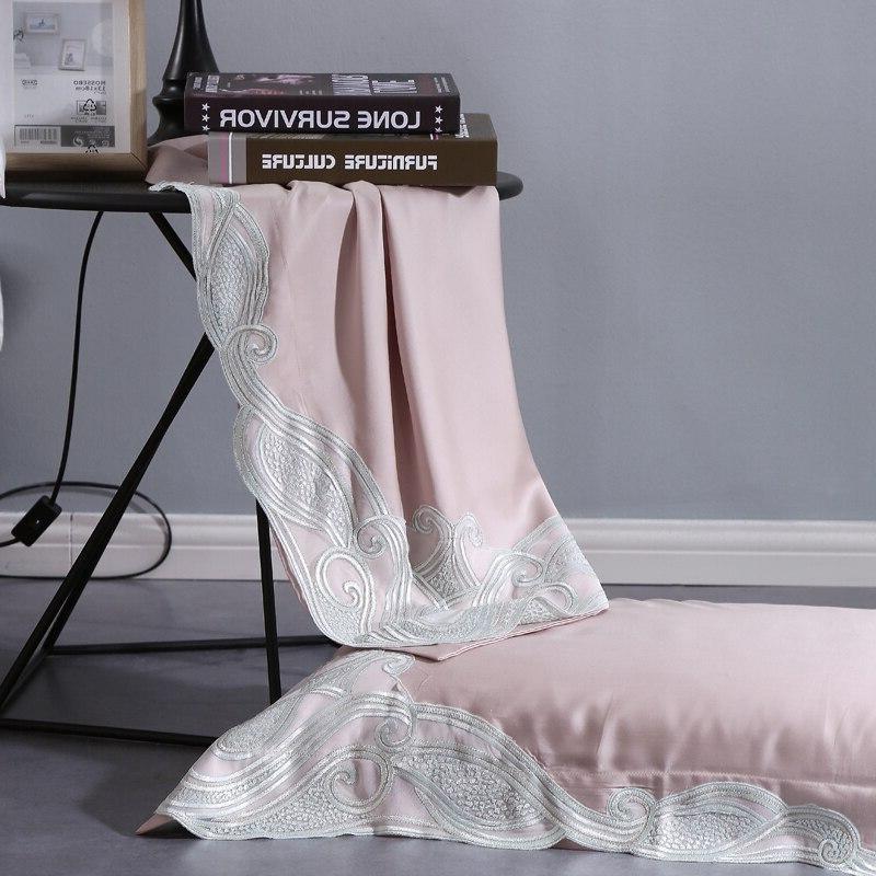 Luxury <font><b>Thread</b></font> <font><b>Count</b></font> Lace Bedding <font><b>King</b></font> Size 4 Cover Set