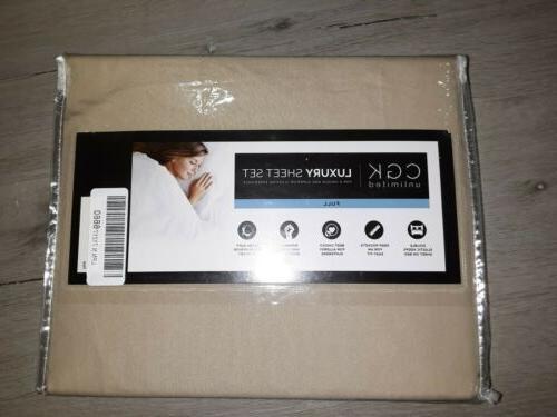 luxury sheet set full size beige 4