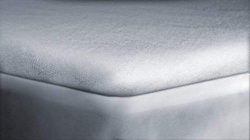"Linenwala protector 10"" deep pocket sheet 100% Hypoallergenic, Breathable, Noiseless, No Crinkling, Free King, White Solid"