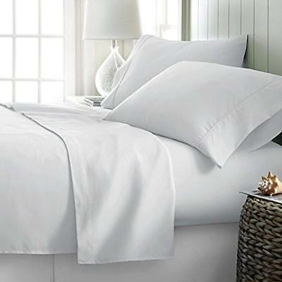 Linen Count 100% Cotton White King Bed