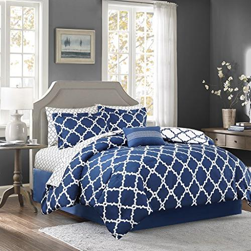 Tree Forest Duvet Decoration Sheets Gift Comforter Blue KING