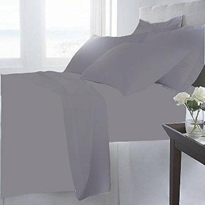 NEW Home Soft Sheets Set 6 Gray - Size: Cal King