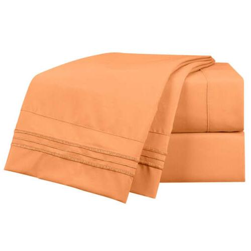 NEW Brushed Soft Microfiber Hotel Style Bed Sheets, Pocket Set