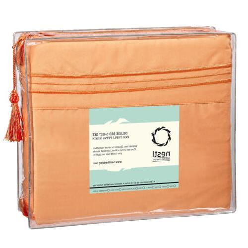 NEW Unique Soft Microfiber Bed Sheets, Deep Set