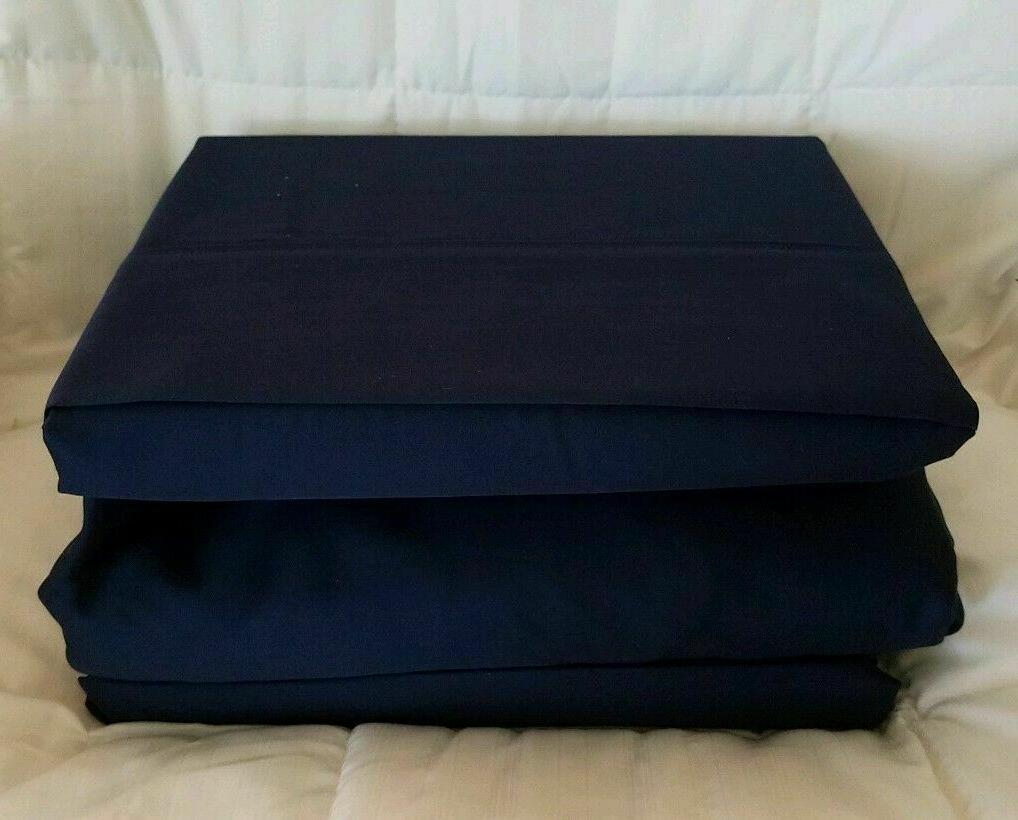 NEW! KING SIZE CADET BLUE Sheet Set Dunham Sateen 300 TC $115.