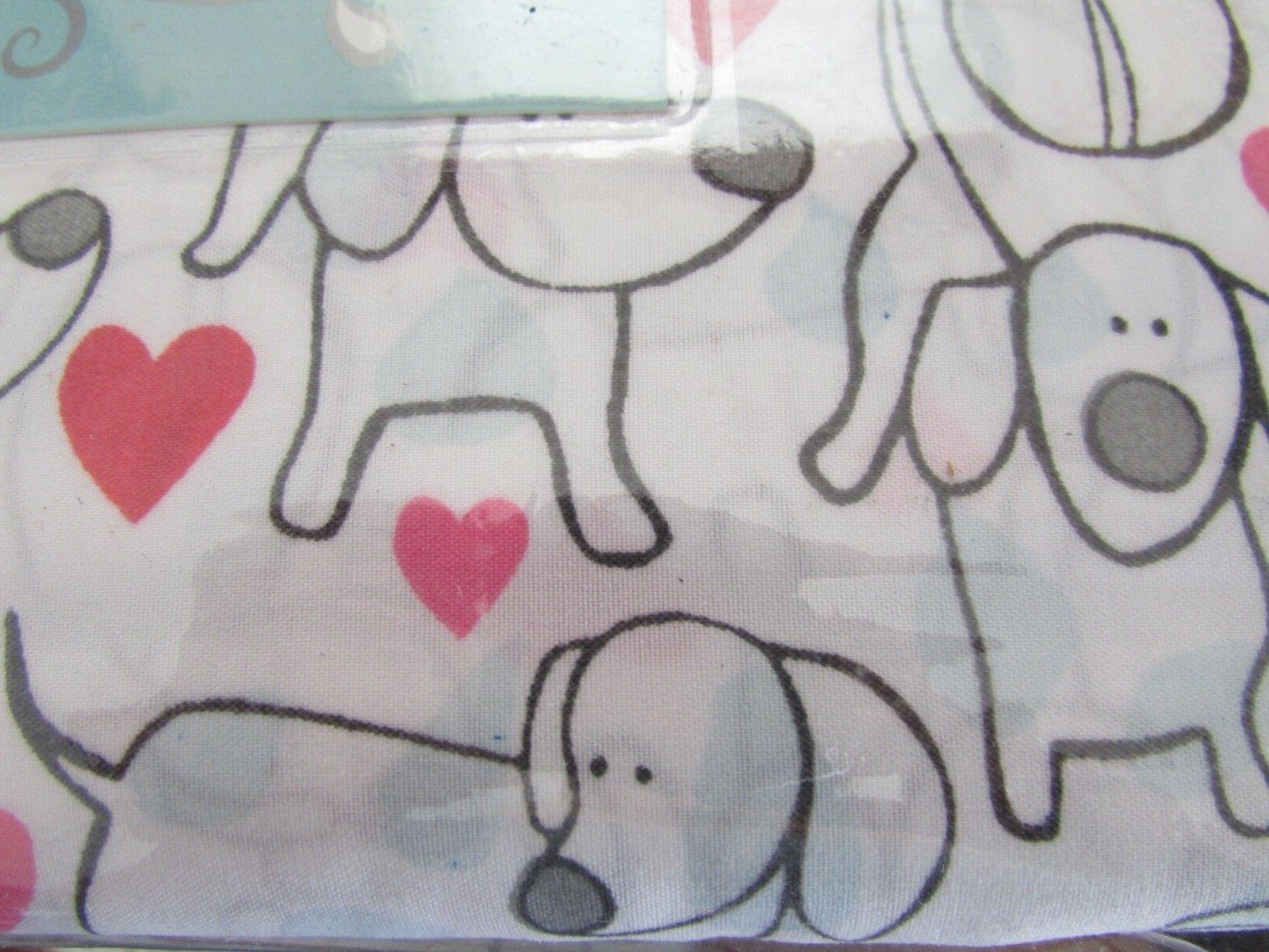 NEW KING SIZE DOG PUPPY KING SIZE DOGS HEARTS SHEET