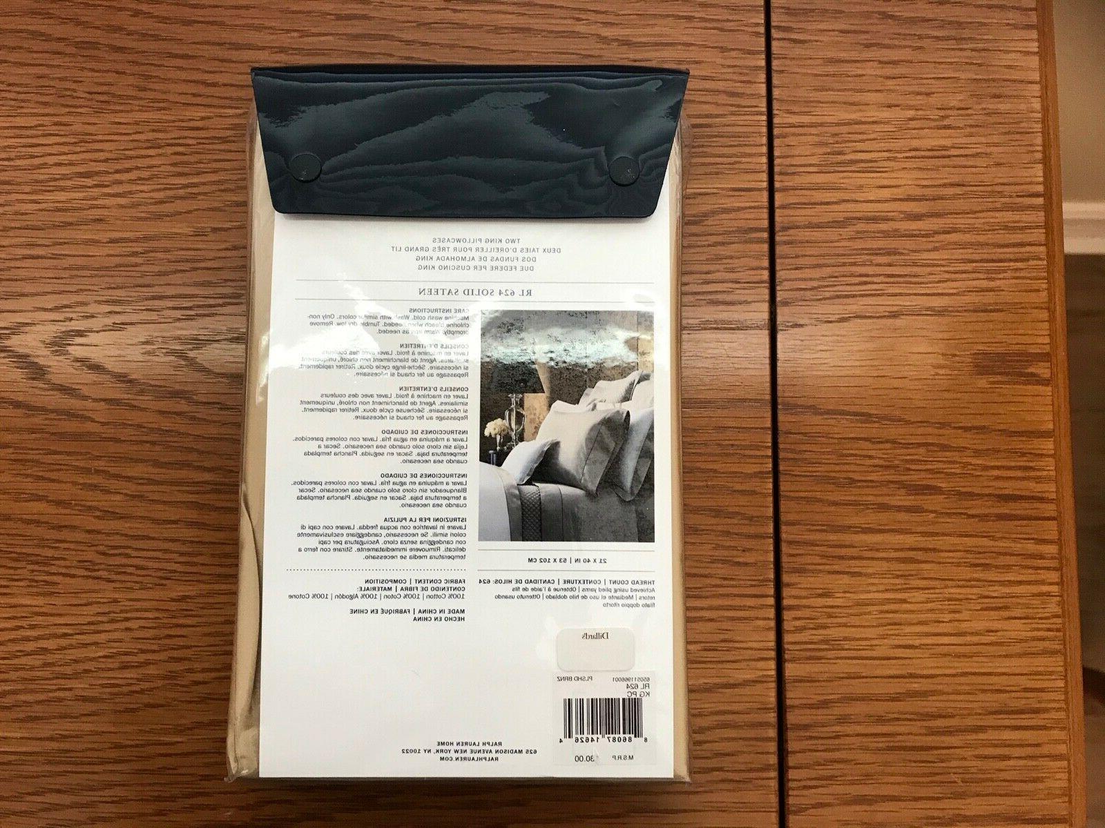 NEW Ralph pc Sheet Set RL 624 Solid Sateen POLISHED XDP