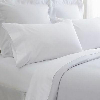 1 new white king size flat bed sheet with a pair of pillow 2