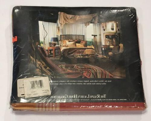 NIP Lauren Red Plaid King Flat Sheet RARE