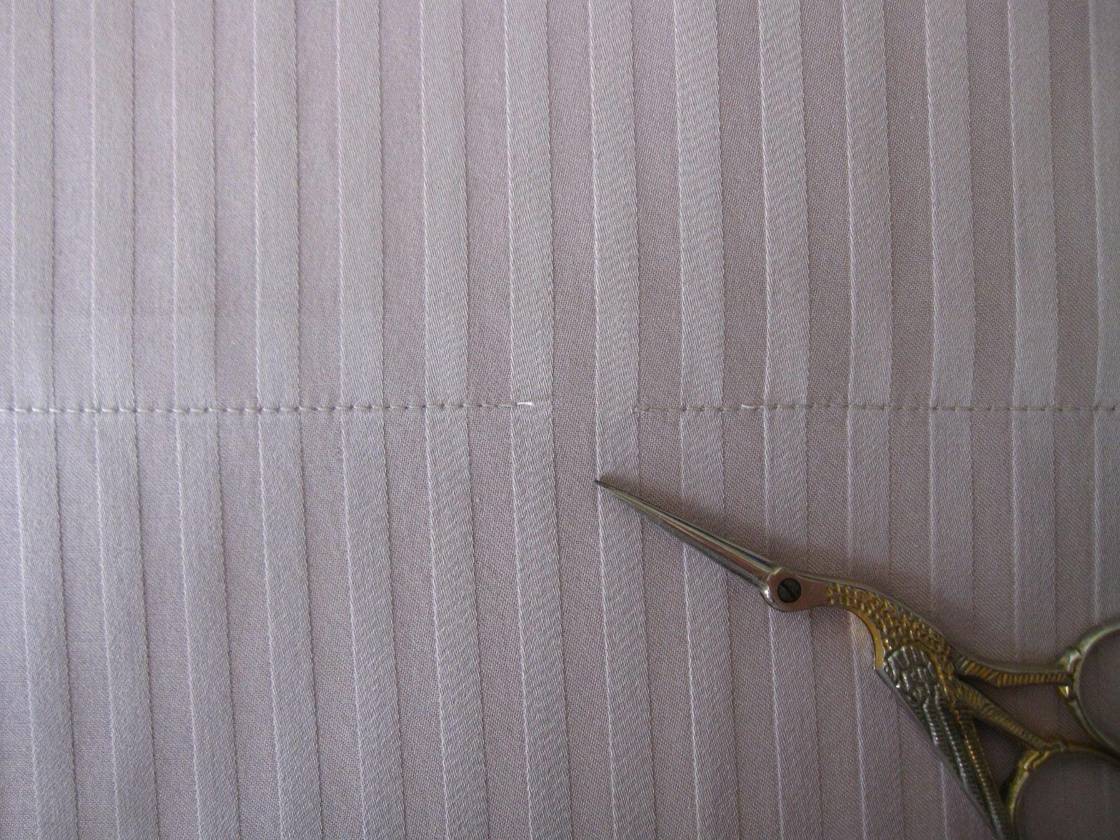 NWT Boll Branch Hemmed KING Size Sateen Stripe Set GOTS