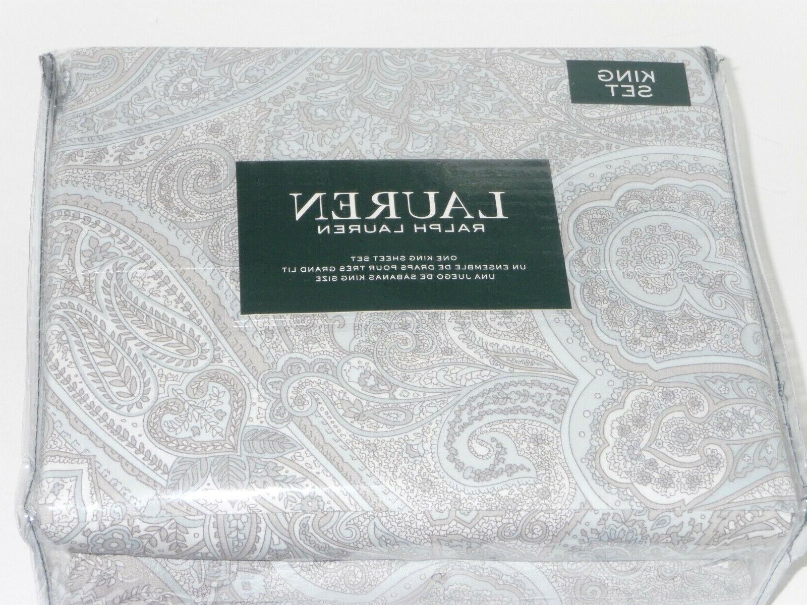 Ralph Lauren SHEET GRAY WHITE